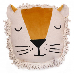 Coussin Lion - Farniente yellow
