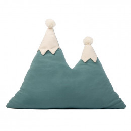 Coussin montagne Snowy - Magic green