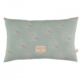 Petit coussin Laurel - White gatsby & Antique green