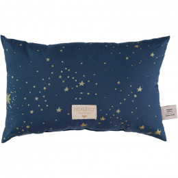 Petit coussin Laurel - Gold stella & Night blue
