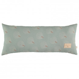 Coussin Hardy - White gatsby & Antique green
