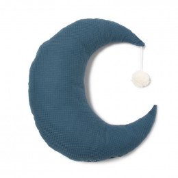 Coussin lune Pierrot - Night blue