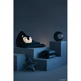 Coussin Akamba velvet 45x30 cm - Night blue