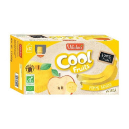 Cool Fruits - Pomme Banane - 12 gourdes