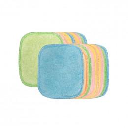 Kit Eco Belle Bois 20 carrés démaquillants lavables - Bambou multicolore