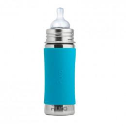 Biberon évolutif en inox - 325 ml - Tétine - Turquoise