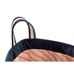 Panier de rangement Savanna velours - Night blue