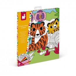 5 cartes velours à colorier - à partir de 6 ans