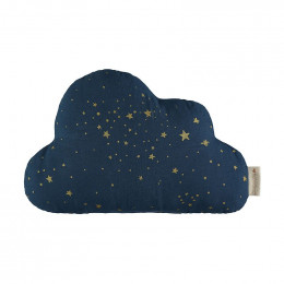 Coussin Nuage - Gold stella & Midnight blue