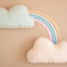 Coussin nuage Marshmallow - Aqua