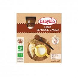 Créme semoule cacao Bio - 4 gourdes de 85 g