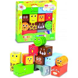 Cubes en bois sonores La savane - à partir de 18 mois